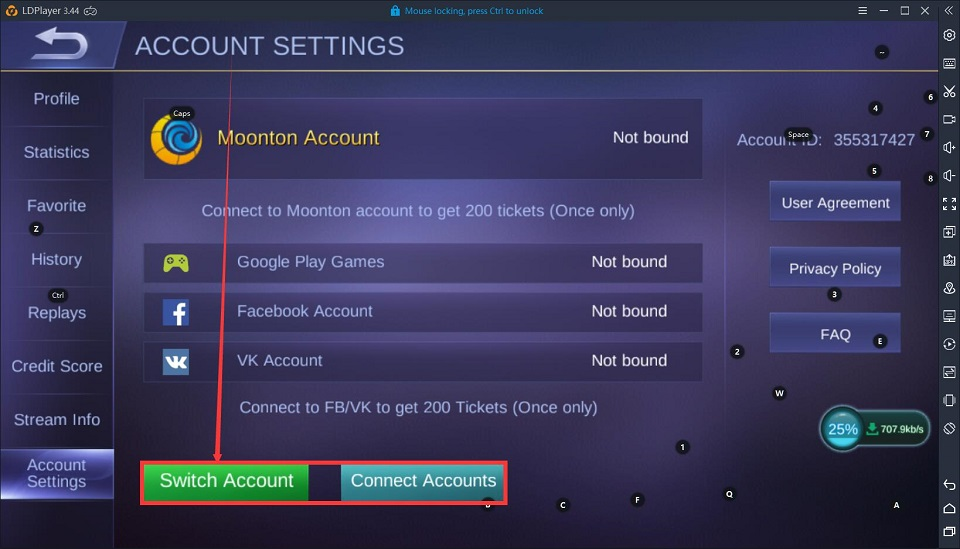 How to switch account in Mobile Legends Bang Bang
