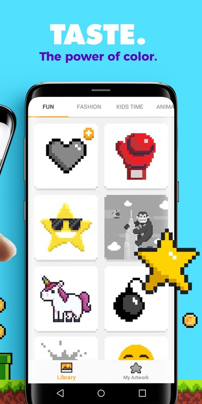 play UNICORN Color by Number Pixel Art Game on pc