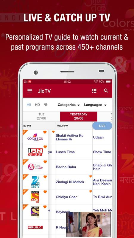JioTV Bigg Boss, KBC, Live sports & TV shows