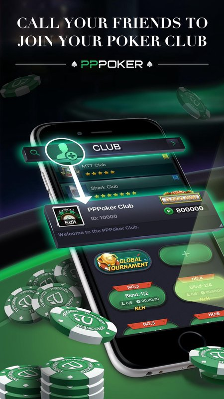 play PPPoker-Free Poker&Home Games  on pc