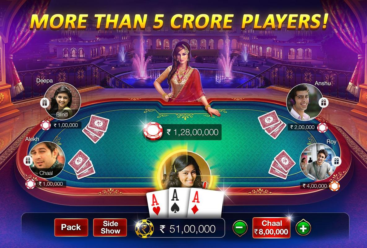 play Teen Patti Gold - With Poker & Rummy on pc