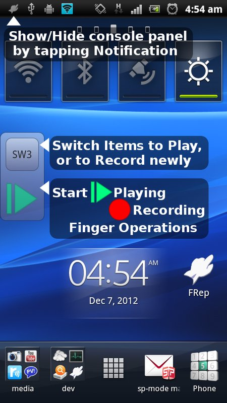 FRep - Finger Replayer