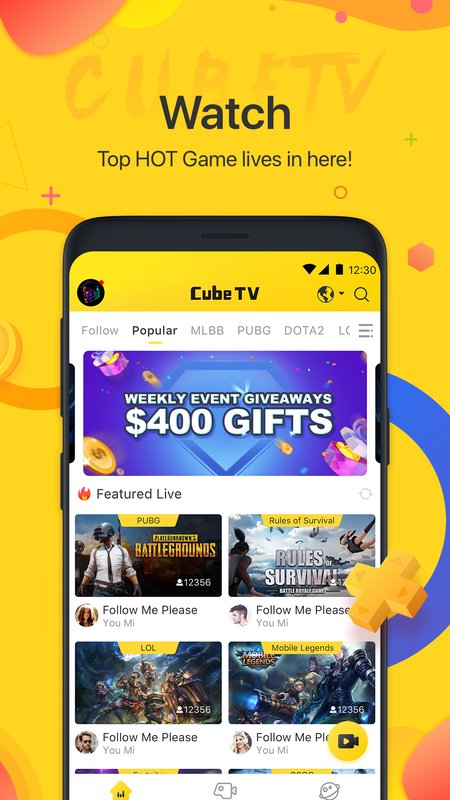 Cube TV Live Stream Games Community