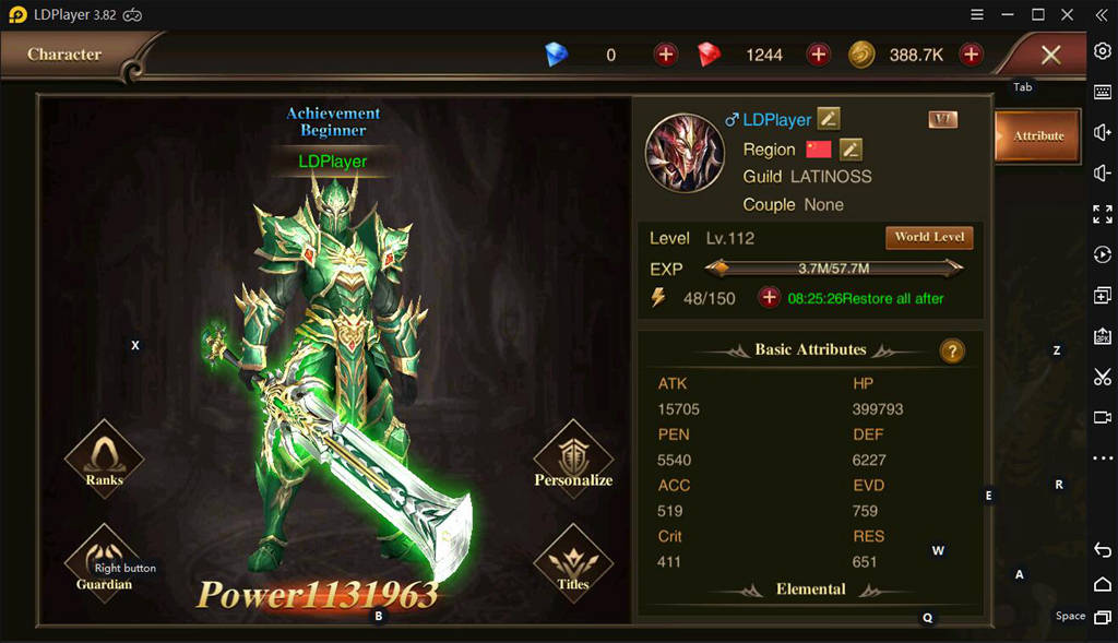 Character Attribute On Dragon