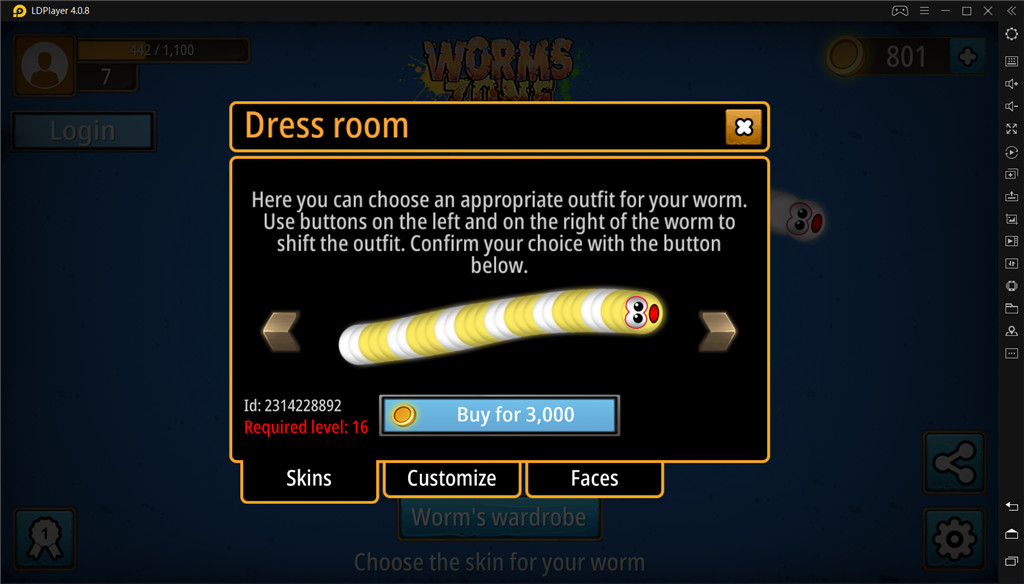 Customize Your Worm