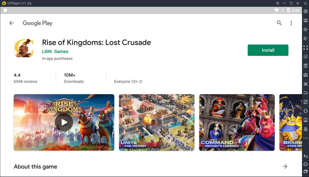 Download Rise Of Kingdoms On Ldplayer
