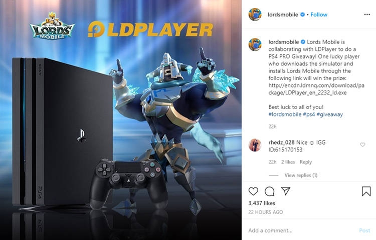 Lords Mobile x LDPlayer: Win PS4 PRO Giveaway for Free