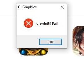 GLGraphics 실행 오류의 해결방법