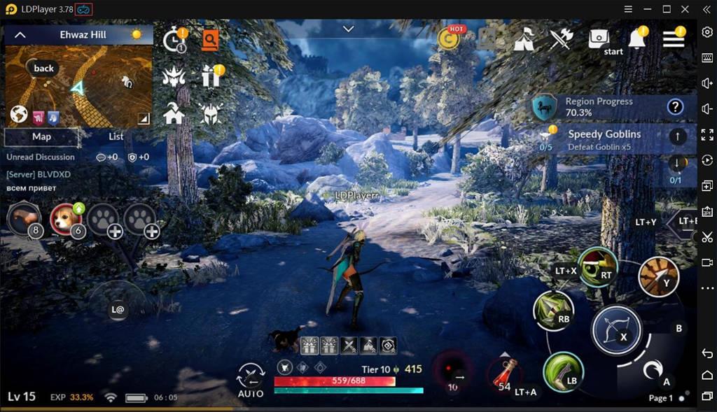 มือการสนับสนุน Gamepad / Controller สำหรับ Black Desert Mobile PC