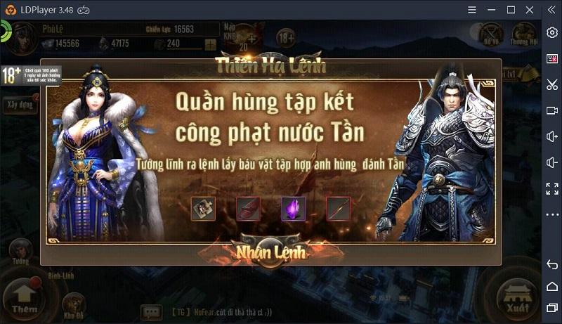 Hướng dẫn chơi Long Đồ Bá Nghiệp trên PC