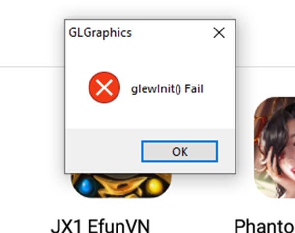 Cách khắc phục lỗi Gl graphics, glewlnit Fail khi vào giả lập
