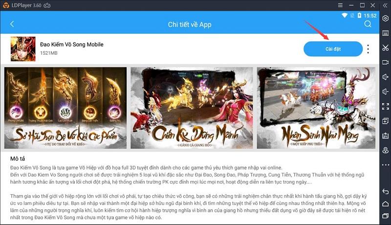 Hướng dẫn chơi Đao Kiếm Vô Song Mobile trên máy tính