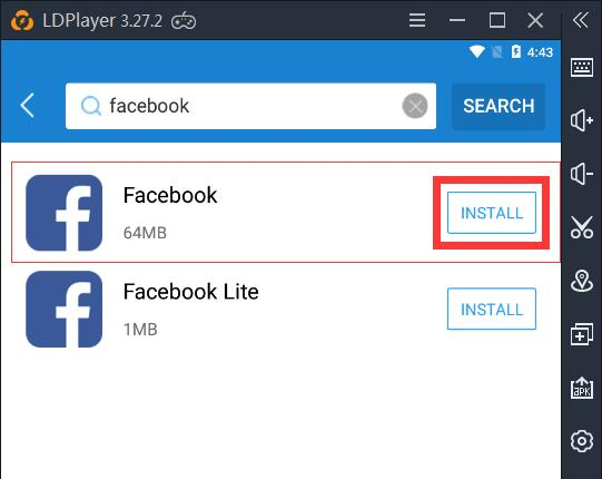 How to use Facebook, WhatsApp or Instagram on LDPlayer (Take Facebook for example)