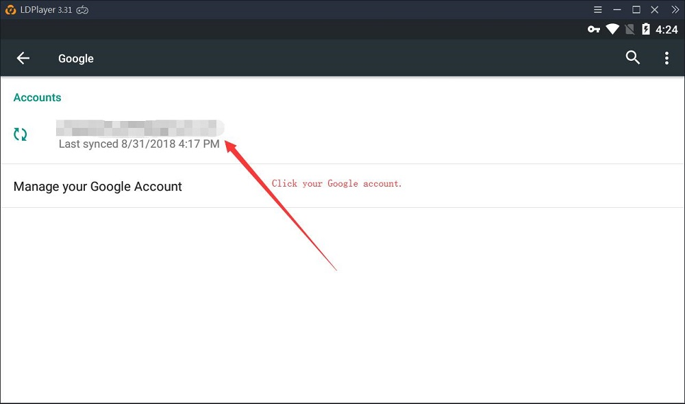 How to sign out of Google account from LDPlayer