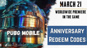 PUBG Mobile March 2021 Anniversary Redeem Codes