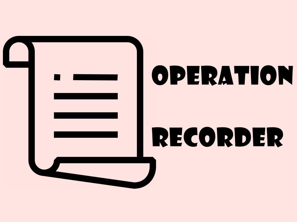 Enregistreur d'opération pour écrire un script