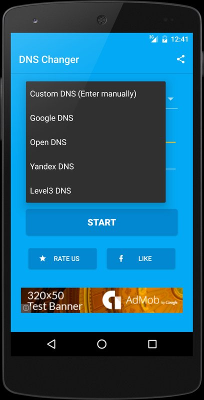 Download&Play DNS Changer (no root 3G/WiFi) on PC with