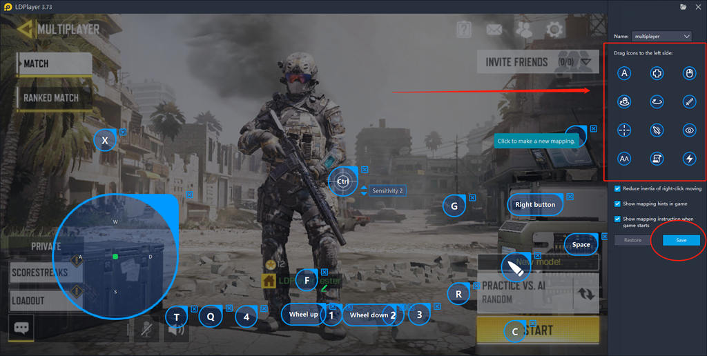 Keyboard Map Setting Guide for Call of Duty Mobile on PC