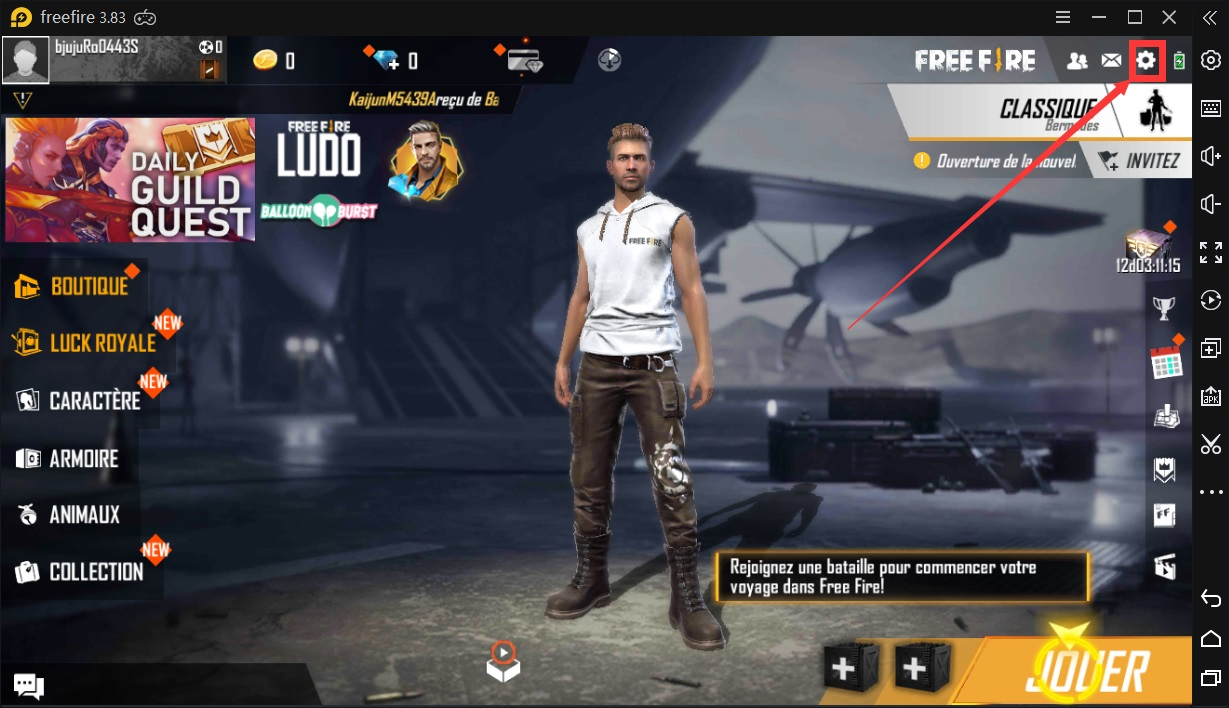 Free Fire sur PC Config